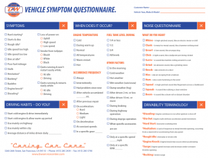 WIntroducing the Vehicle Symptom Questionnaire